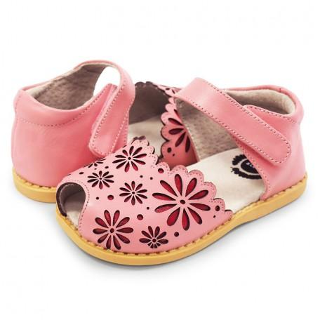 Детские кожаные сандалии Carmen Rosy Pink (Кармен розовые) Livie and Luca