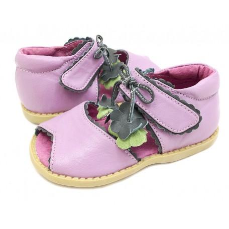 Детские кожаные сандалии Мэри Белл лаванда (размер 20-25) для девочек Livie and Luca