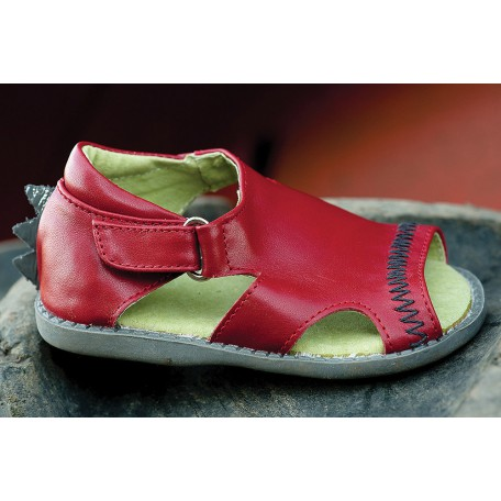 Детские кожаные сандалии Стего красные для мальчиков (размер 20-25) Livie and Luca