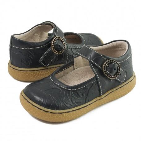 Детские кожаные туфли Клоув чёрные (размер 20-25) Livie and Luca