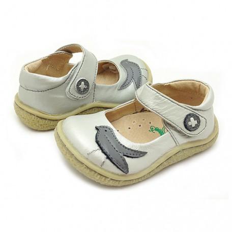 Детские кожаные туфли Пио Пио серебряные (размер 20-25) Livie and Luca