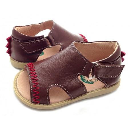 Детские кожаные сандалии Стего коричневые для мальчиков (размер 20-25) Livie and Luca