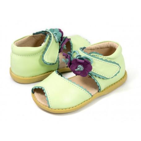 Детские кожаные туфли Мэри Белл мята (размер 20-25) Livie and Luca