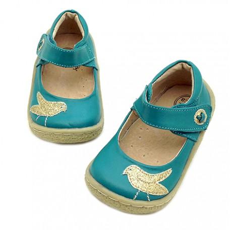 Детские кожаные туфли Пио Пио бирюзовые (размер 20-25) Livie and Luca