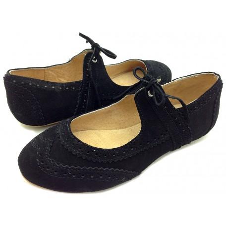 Коко чёрные туфли для девушек кожаные (размеры 35-40) Livie and Luca