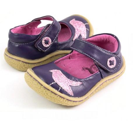 Детские кожаные туфли Пио Пио виноградные (размер 20-25) Livie and Luca
