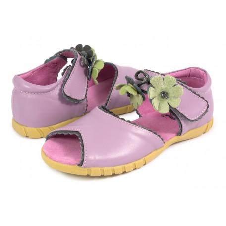 Мэри Белл лаванда (размеры US10 - US13) детские кожаные сандалии Livie and Luca