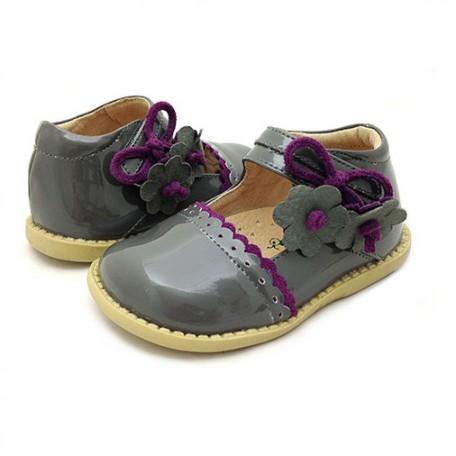 Детские кожаные туфли Блюбел серые (размер 20-25) Livie and Luca