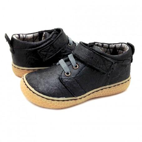 Детские кожаные ботинки Грип черные (размер 20-30) Livie and Luca