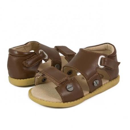 Детские кожаные сандалии Филлипс коричневые (размер 20-25) Livie and Luca