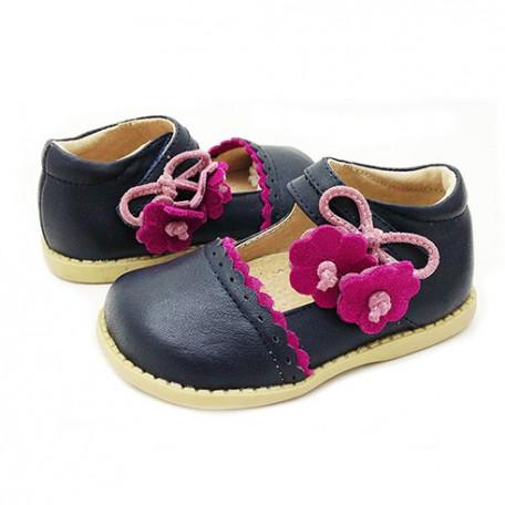 Детские кожаные туфли Блюбел синие (размер 20-25) Livie and Luca