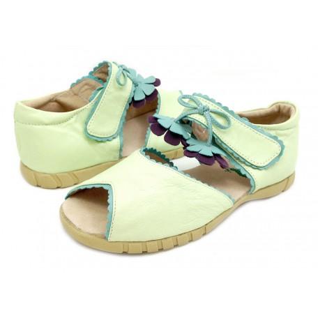 Мэри Белл мята (размеры US10 - US13) детские кожаные сандалии для девочек Livie and Luca