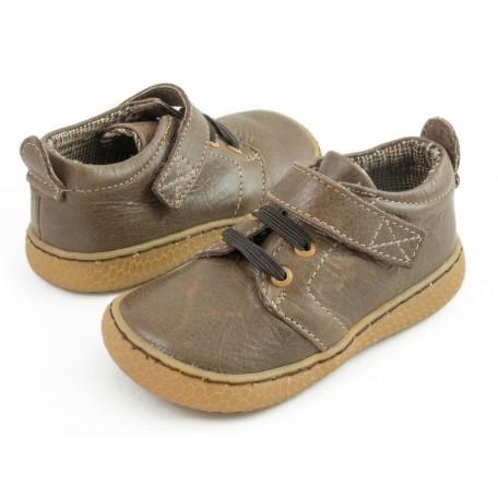 Детские кожаные ботинки Грип коричневые (размер 20-25) Livie and Luca