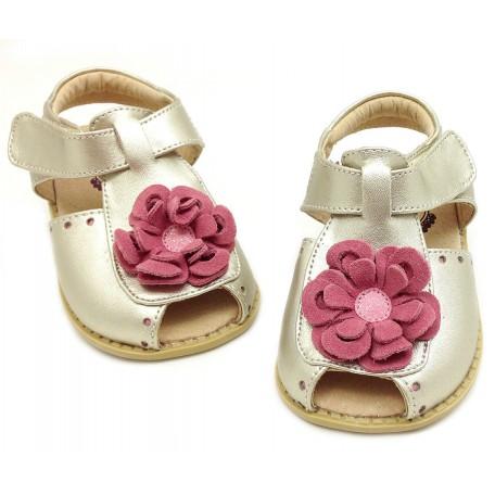 Детские кожаные туфли Блум золотые (размер 20-25) Livie and Luca Bloom Gold