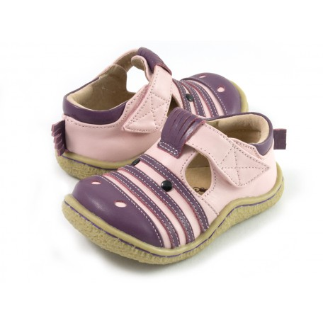 Детские кожаные туфли Зебра розовые (размер 20-25) Livie and Luca