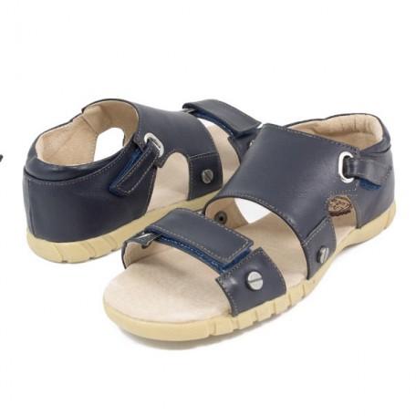 Филлипс синие (размеры US10 - US13) детские кожаные сандалии Livie and Luca