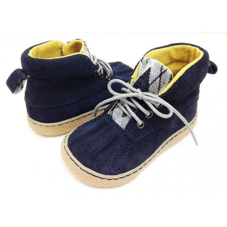 Детские кожаные ботинки Гордон синие замшевые (размер 20-25) Livie and Luca