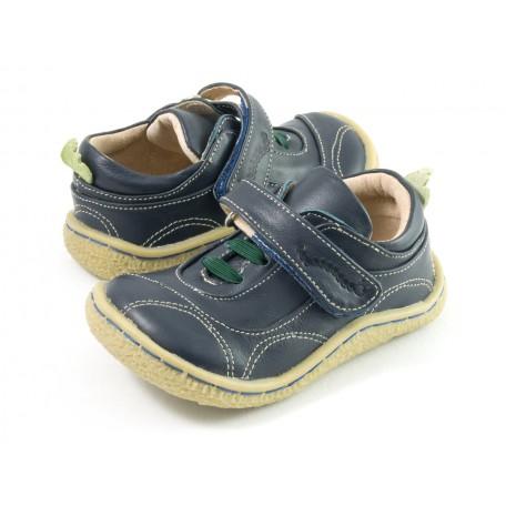 Детские кожаные ботинки Скаттлз синие (размер 20-25) Livie and Luca