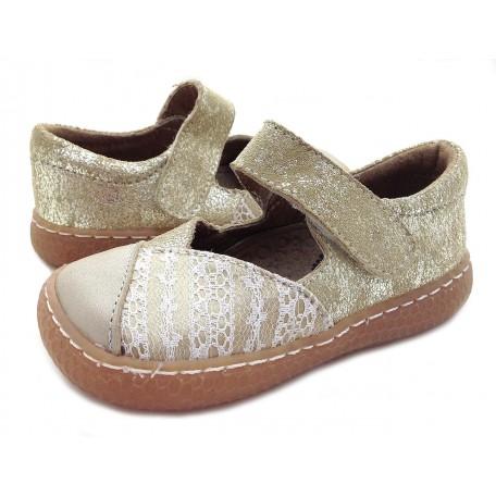 Детские кожаные туфли Кнолл золотые (размер 20-25) Livie and Luca