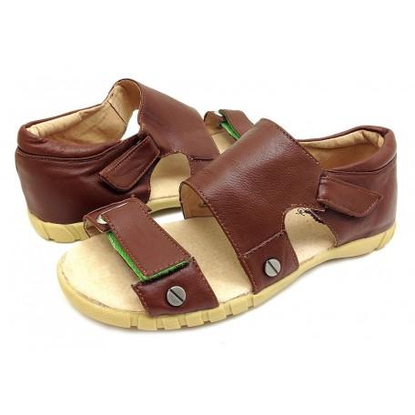 Филлипс коричневые (размеры US10 - US13) детские кожаные сандалии Livie and Luca