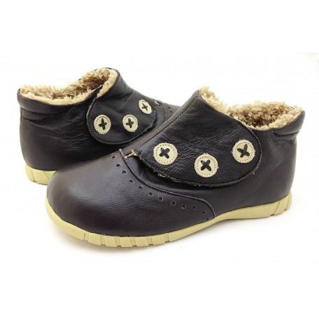 Лондон шоколадные туфли для девочек (размеры 31-37) Livie and Luca