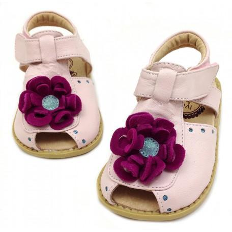 Детские кожаные туфли Блум розовые (размер 20-25) Livie and Luca