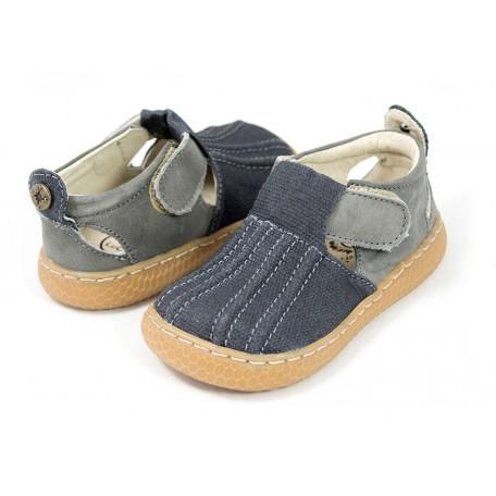 Детские кожаные туфли Маллард синие (размер 20-25) Livie and Luca