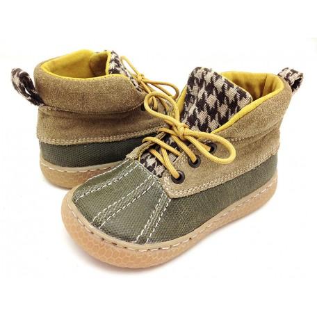 Детские кожаные ботинки Гордон бежевые замшевые (размер 20-30) Livie and Luca