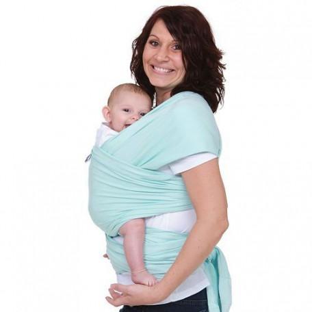 Слинг-шарф трикотажный Moby Wrap Classic Мята для новорожденных