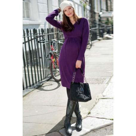 Базовое платье для беременных (B4594) Jojo цвет виноградный