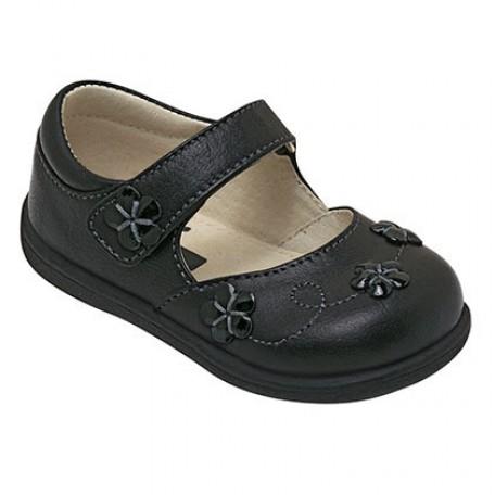 """Туфли для девочек """"Мэри-Джейн"""" черного цвета Amanda Black (Аманда черные) SeeKaiRun"""