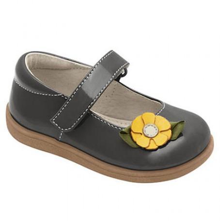 """Туфли для девочек """"Мэри-Джейн"""" серого цвета Emily Grey от 6 мес до 3 лет (Эмили серые) SeeKaiRun"""