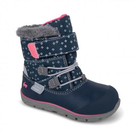 Сапоги для девочек зимние Gilman Navy/Pink (Джилман Синие/Розовые) SeeKaiRun