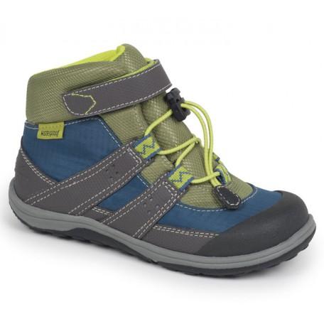 Ботинки для мальчиков водонепроницаемые на осень Atlas Blue/Gray (Atlas синий/серый) SeeKaiRun