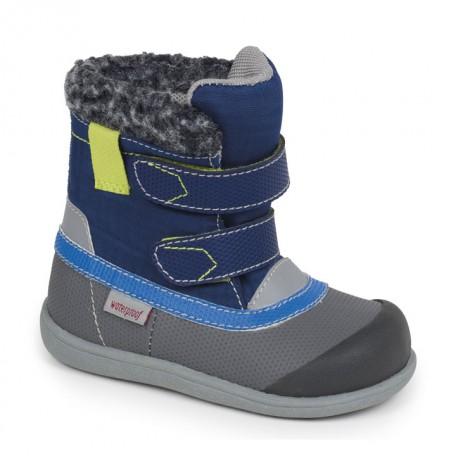 Сапожки для мальчиков на осень-зиму Charlie blue/gray от 6 мес до 3 лет (Чарли синий/серый) SeeKaiRun