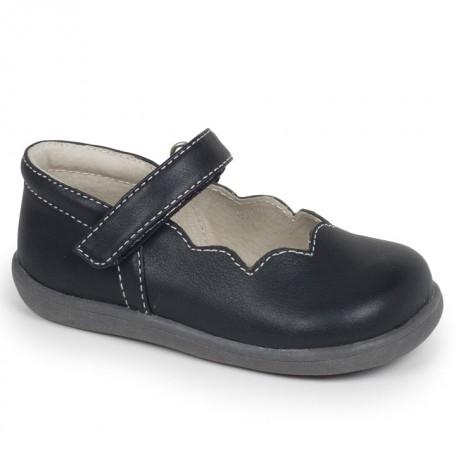 Туфли для девочек Savannah Black от 6 мес до 3 лет (Саванна черный) SeeKaiRun