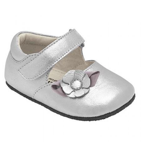 """Чешки для девочек """"Мэри-Джейн"""" серебряные Charlotte silver (Шарлотта серебряные) SeeKaiRun"""