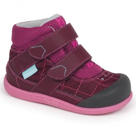 Ботинки для девочек на осень Atlas Burgundy/Berry (Атлас бургунди/ягоды) SeeKaiRun
