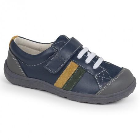 Ботиночки для мальчиков Randall Navy (Рэндал синий) SeeKaiRun