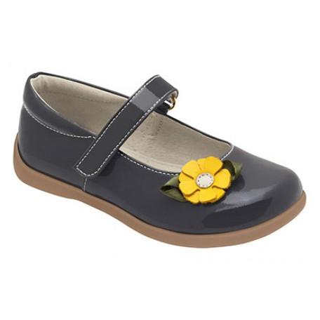 """Туфли для девочек формы """"Мэри-Джейн"""" Imelda Grey от 2 до 8 лет (Имельда серые) SeeKaiRun"""