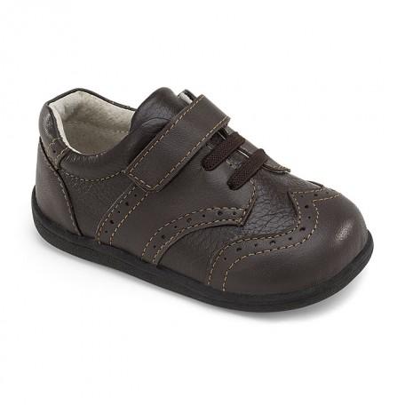 Ботинки для мальчика Bennett Brown (Беннетт коричневые) SeeKaiRun