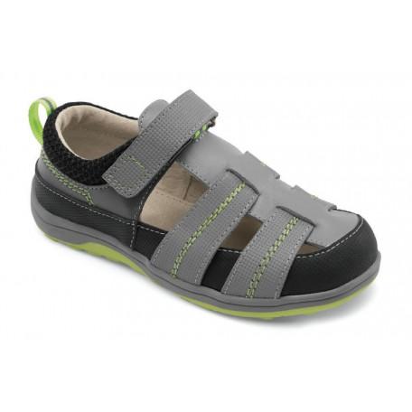Серые сандалии для мальчиков Christopher Gray (Кристофер серые) SeeKaiRun