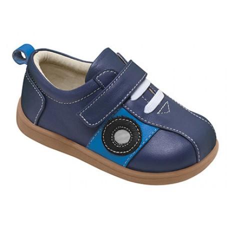 Ботинки для мальчика синие Bent Navy (Бент синие) SeeKaiRun