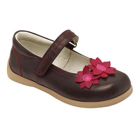 Туфли для девочек Remy Brown от 2 до 8 лет (Реми коричневые) SeeKaiRun