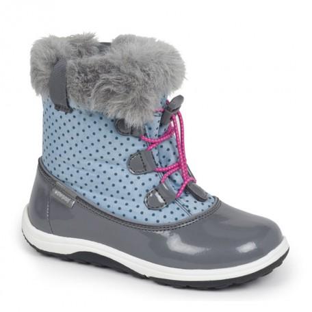 Сапожки для девочек водонепроницаемые на осень и зиму Abby Light Blue/Gray (от 2 до 8 лет) (Эбби голубой/серый) SeeKaiRun