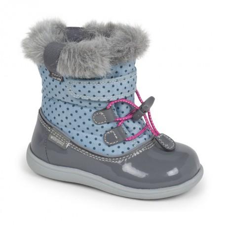 Сапожки для девочек водонепроницаемые на осень и зиму Abby light blue/gray (от 6 мес до 3 лет) (Эбби голубой/серый) SeeKaiRun