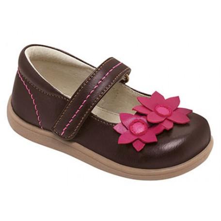 Туфли для девочек Marlo Brown от 6 мес до 3 лет (Марло коричневые) SeeKaiRun