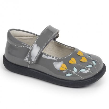 Туфли для девочек Tricia Gray Yellow (Трисия серый/желтый) SeeKaiRun