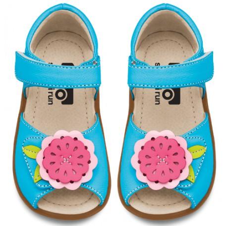 Сандалии для девочек Eliza Blue (Элиза голубые) SeeKaiRun