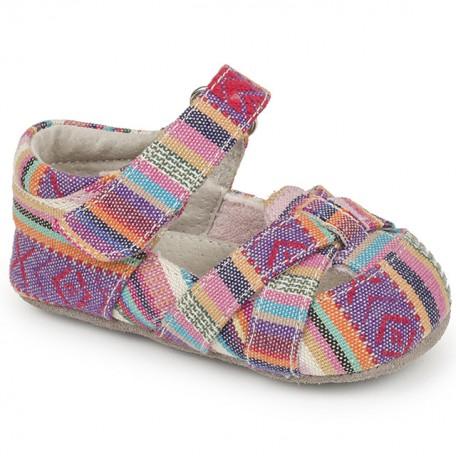 Чешки цветные тканевые Camila Multi Stripe (Камила разноцветные) SeeKaiRun